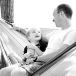 boy and dad talking